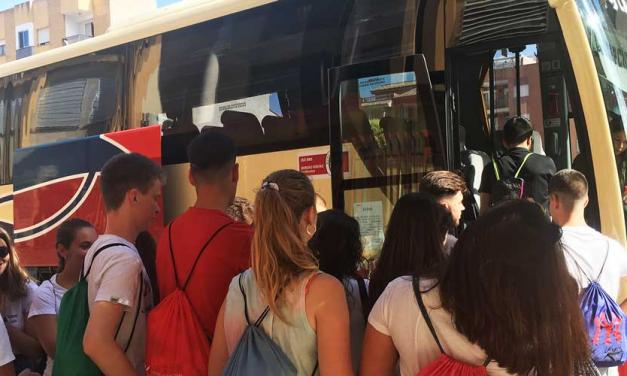 G.V traslada a Segorbe a los estudiantes del Alto Mijares