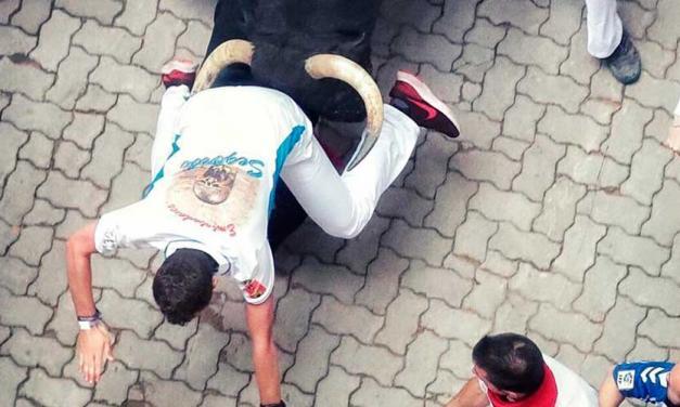 Un joven segorbino herido en el Encierro de San Fermín