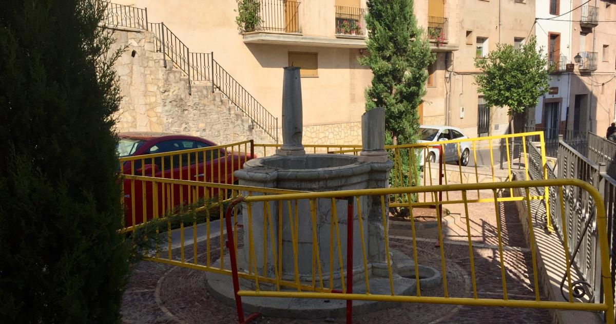 Un acto vandálico obliga a retirar el pozo de la Cartuja de Altura