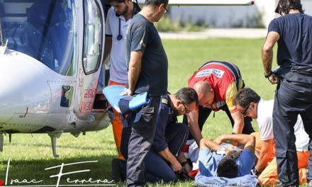 Rescatan en helicóptero a un herido en Jérica