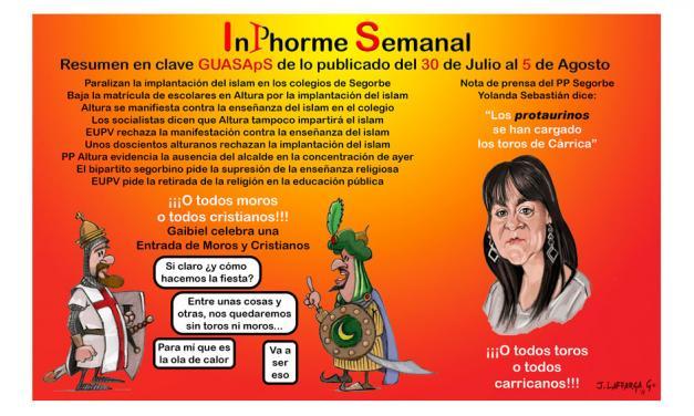 InPhorme Semanal del 30 de julio al 5 de agosto 2018
