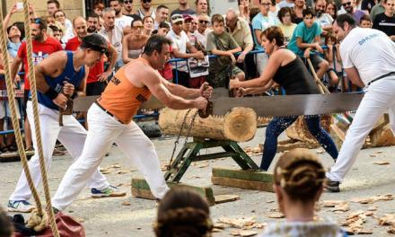 La exhibición de deporte vasco despierta el interés del público