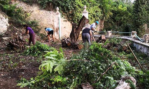 Voluntarios de Navajas limpian la Senda del Refugio