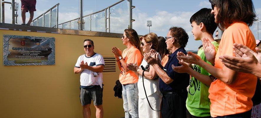 César Plasencia da nombre al campo de Fútbol de la Ciudad Deportiva