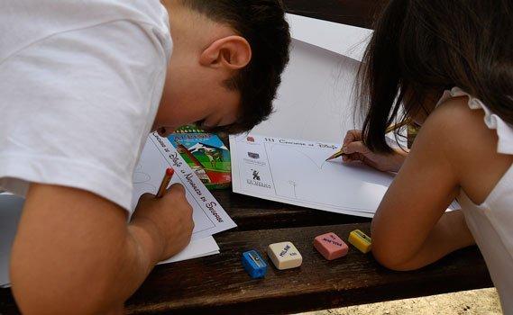 Más de un centenar de niños en el concurso de dibujo del Club de Caza M