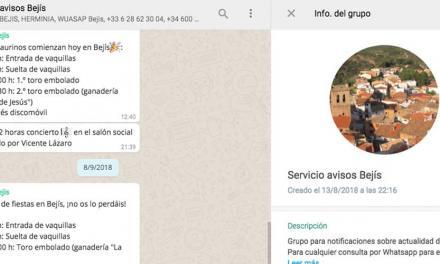 Exitosa iniciativa de información mediante whatsapp en Bejís
