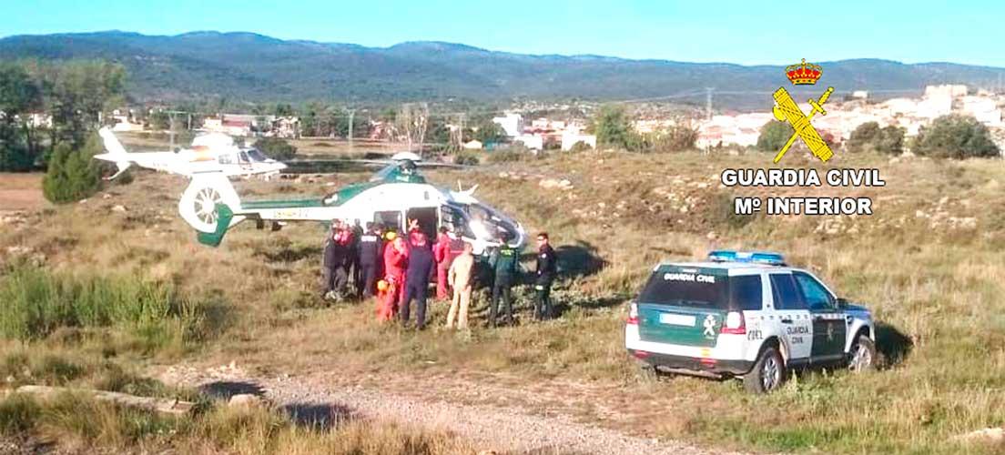 Aparatoso rescate de dos buscadores de setas en El Toro