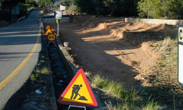 Diputación retoma la adecuación de la carretera de Navajas