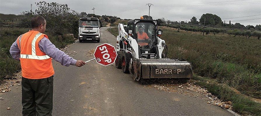 Diputación arregla las carreteras de la comarca dañadas por la lluvia