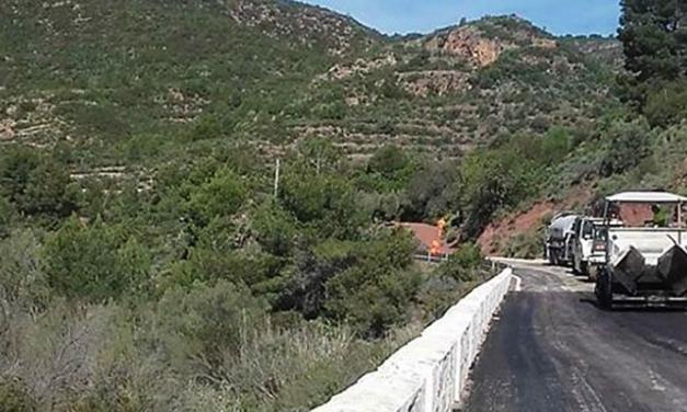 Obras Públicas arregla un tramo de la CV-25 Segorbe-Liria