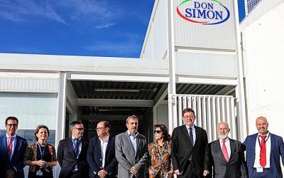 Ximo Puig ensalza la planta de Garcia Carrión ubicada en Segorbe