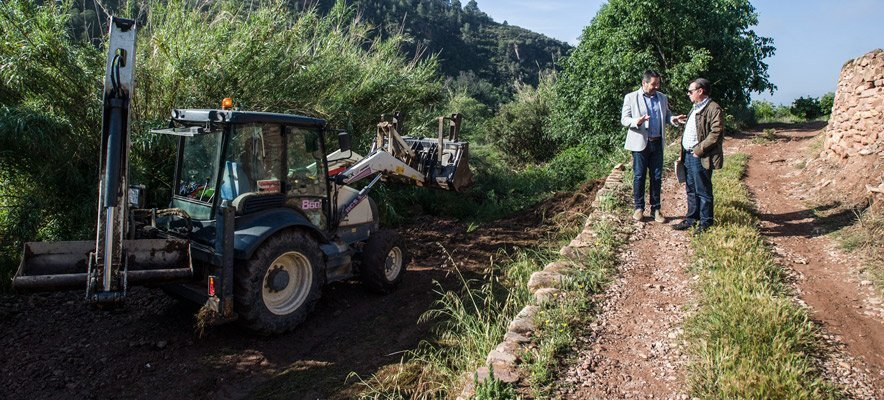 Diputación empieza a rehabilitar 1.500 km de caminos rurales
