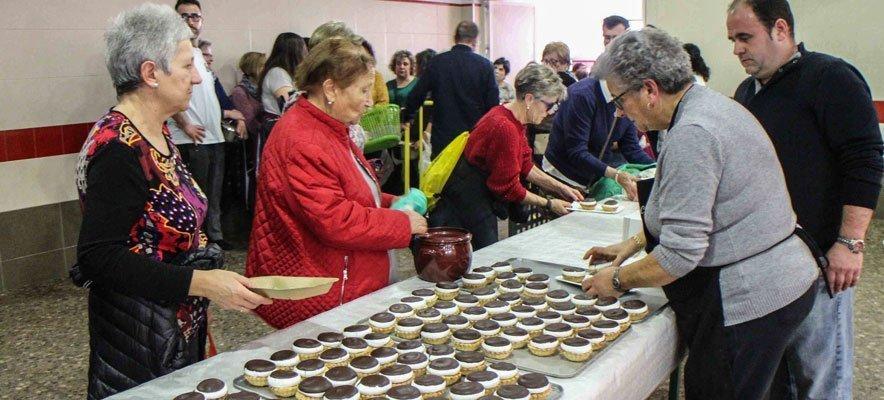 Reparto de olla y pasteles jericanos por Santa Águeda