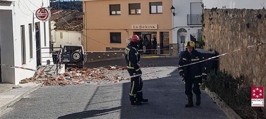 El viento provoca daños en Torás, Caudiel, Jérica, Bejís y Segorbe