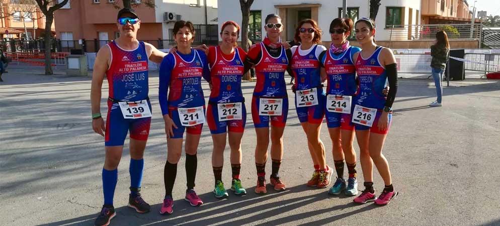 Las triatletas femeninas del Palancia copan el podium de Onda