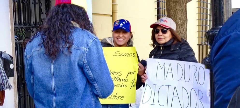 El colectivo venezolano de Segorbe protesta contra la dictadura de Maduro