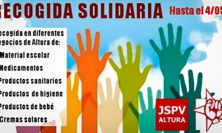 Juventudes Socialistas de Altura inicia una campaña solidaria