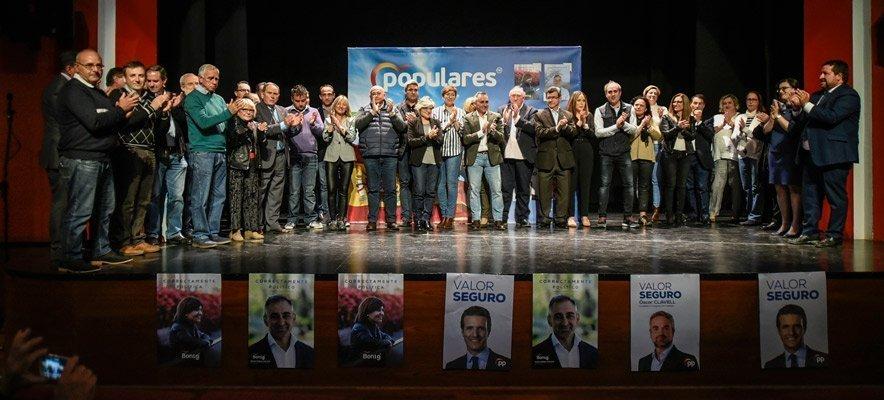 El mitin del PP llenó el Teatro Serrano de Segorbe