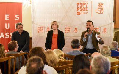 El PSOE llenó el Salón del Artesonado del Casino de Segorbe