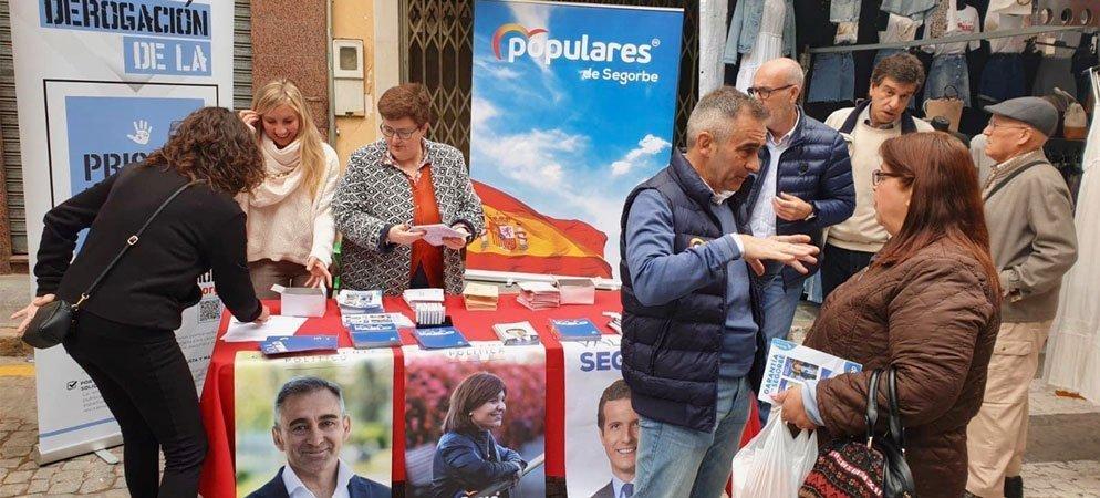 PP Segorbe explica su programa y pide el voto en el Mercado