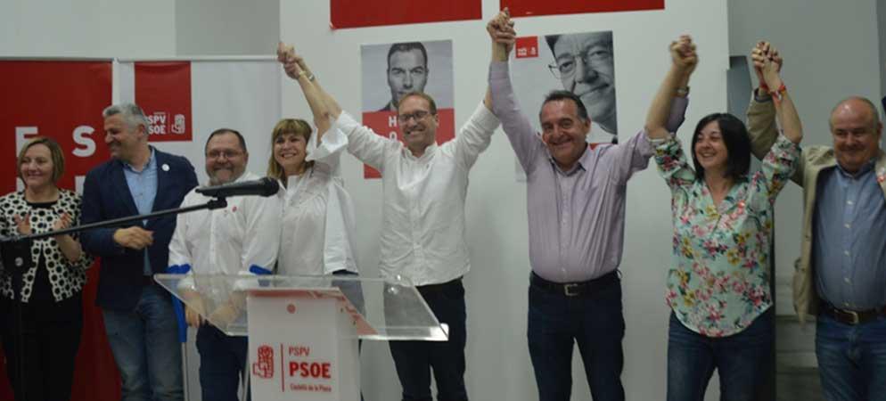 Los socialistas de la provincia celebran su victoria