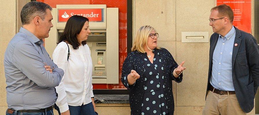 El PSPV-PSOE promete abrir los cajeros cerrados en la comarca