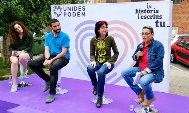 Teresa Mateo intervino en campaña con Podemos en Castellón