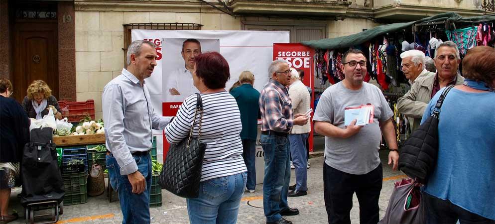 PSPV-PSOE Segorbe sale al Mercado a explicar su programa
