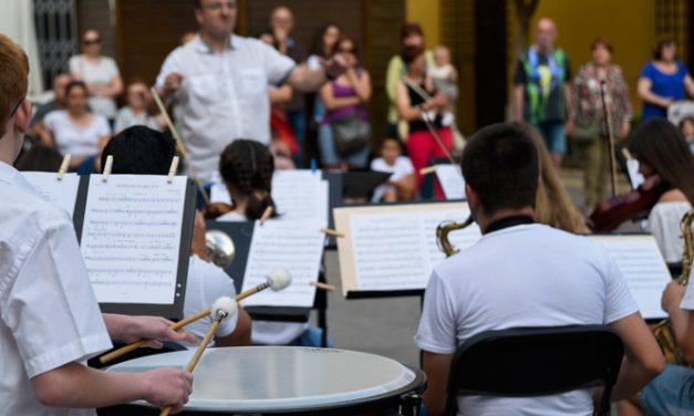 El Conservatorio de Segorbe celebró en la calle el Día de la Música