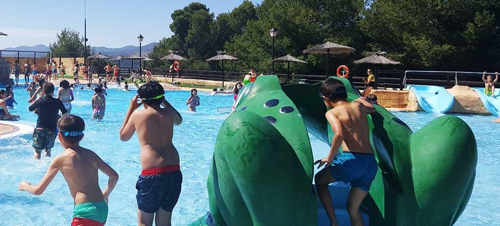 Las piscinas del Segóbriga Park son el mayor reclamo infantil de Segorbe