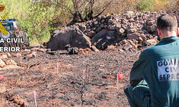 Investigan a un joven como supuesto autor de un incendio en Soneja