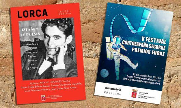 Fin de semana de poesía y cine en el Teatro Serrano