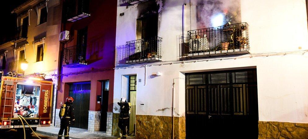 Incendio en una casa de la calle Altura de Segorbe