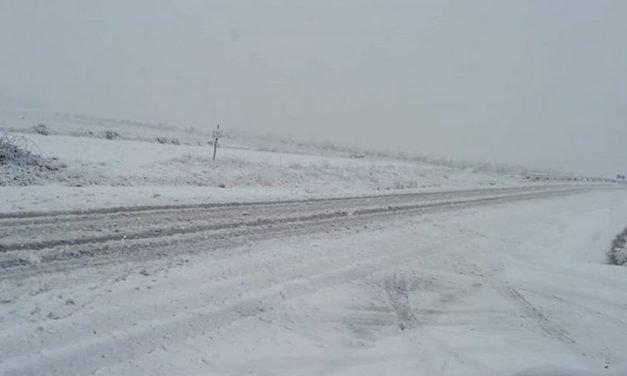 La nieve cubre de blanco el noroeste de la comarca