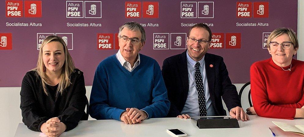 El PSOE presenta los presupuestos de la GV en Altura