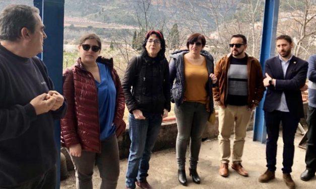 Dirigentes de IU-UP visitan la Cooperativa de Jérica