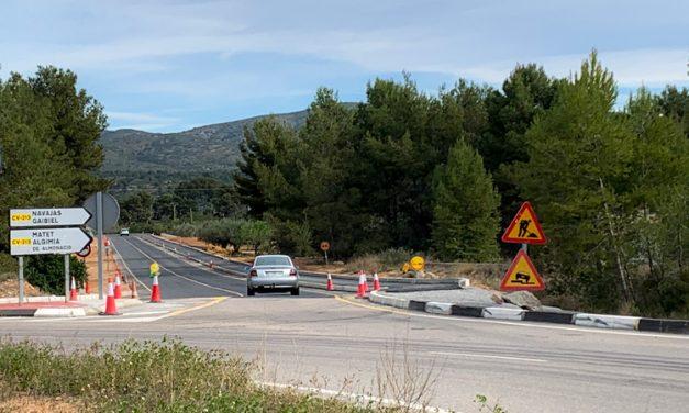 Corte de tráfico en la CV 123 a la entrada de Navajas