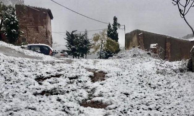 La nieve cubre hoy el norte de nuestra comarca