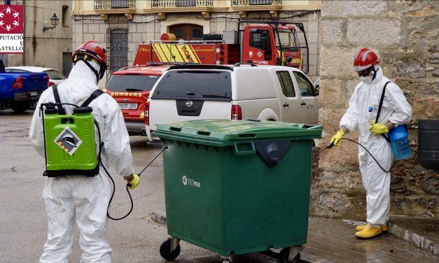 Los bomberos desinfectaran todos los pueblos una vez por semana