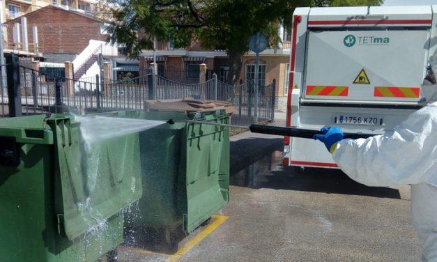 TETMA desinfecta los contenedores de los pueblos mancomunados