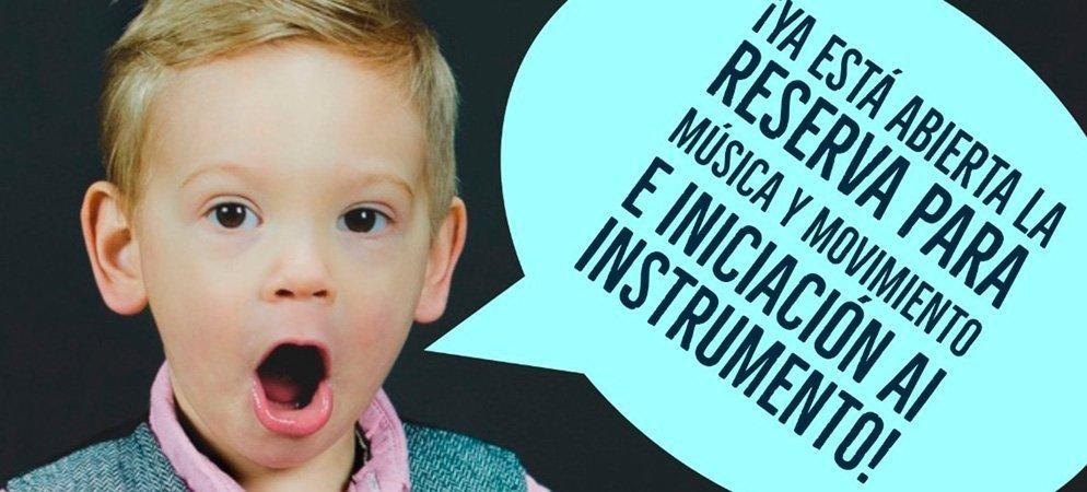 Abren el plazo de preinscripción en el Conservatorio para niños de 3 a 7 años