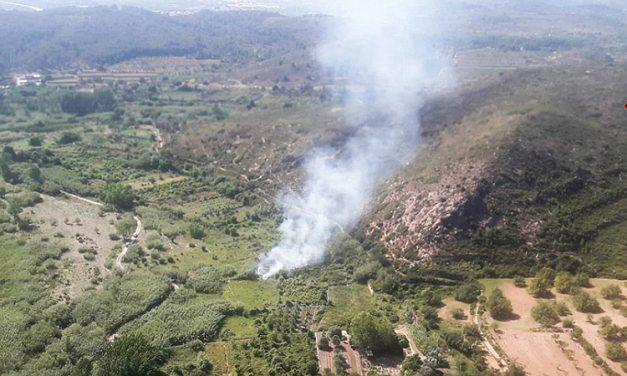 Sofocan un incendio de vegetación en Soneja
