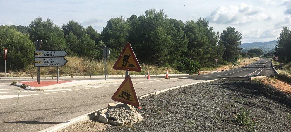 El tráfico de la carretera de Navajas será cortado mañana