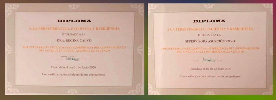 La segorbina Asun Royo y su compañera Regina Calvo homenajeadas por el equipo de la UCI