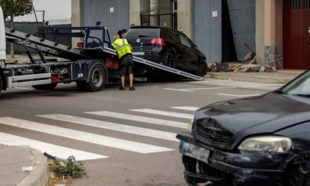 Dos coches implicados en un accidente ocurrido en Segorbe