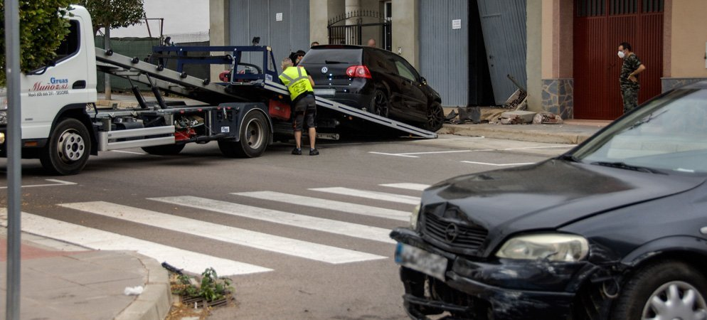 Dos coches implicados en un accidente ocurrido en Segorbe