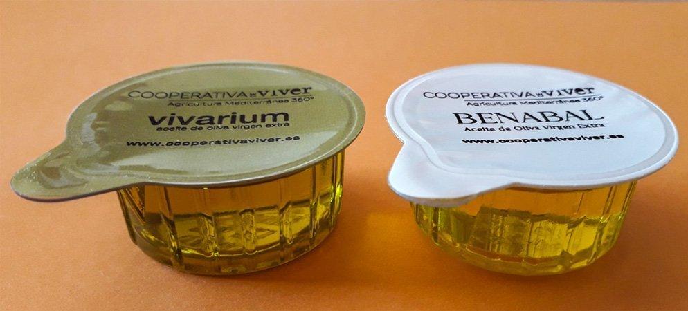 Cooperativa de Viver produce 2 marcas de envases monodosis de aceite