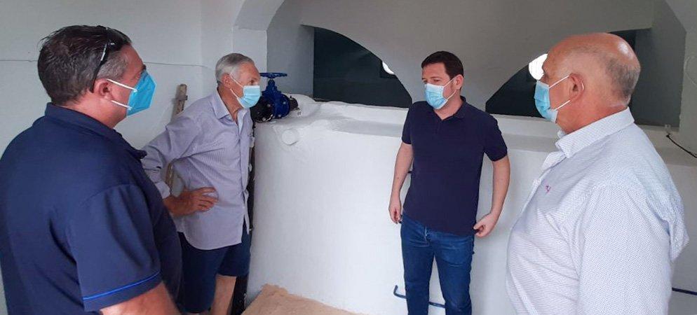 Diputación repara las fugas de agua del depósito de Almedíjar