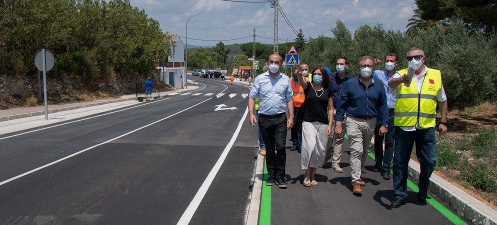 Concluyen las obras de adecuación de la carretera de Navajas