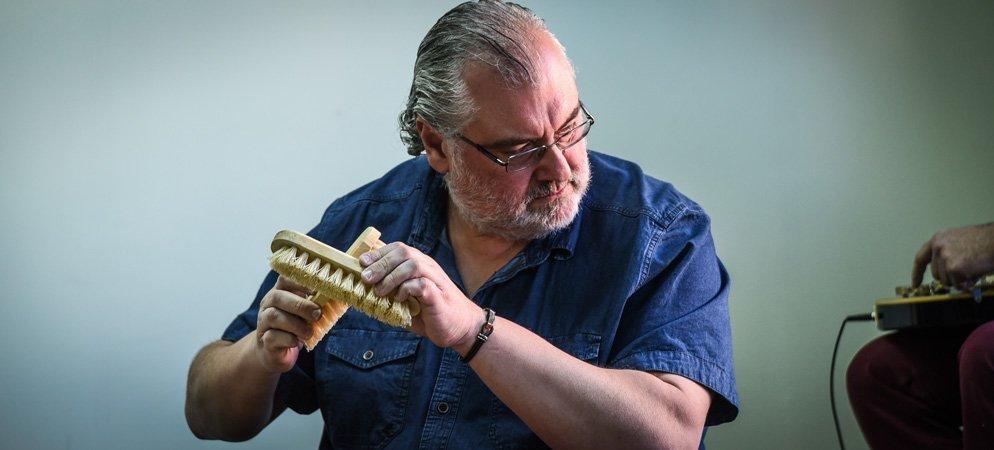 Hervás Lino impartió ayer una conferencia telemática a músicos de Brasil
